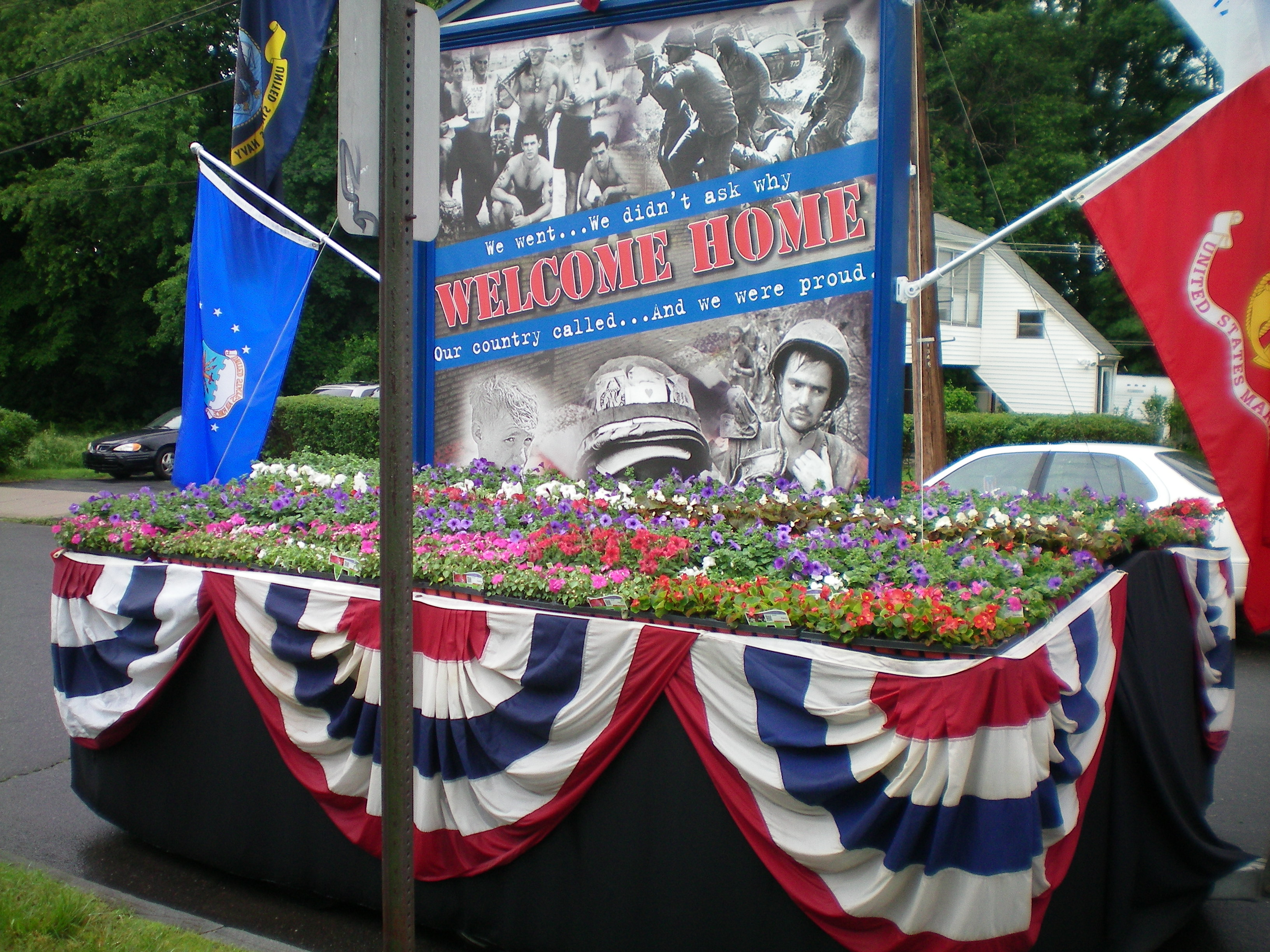 Veterans day parade floats