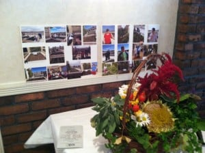 Display table at MARC's annual meeting: Middletown Garden Club made the arrangement from rooftop crops!