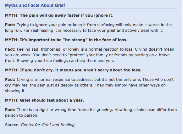 Courtesy of http://www.helpguide.org/articles/grief-loss/coping-with-grief-and-loss.htm