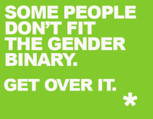 gender binary poster